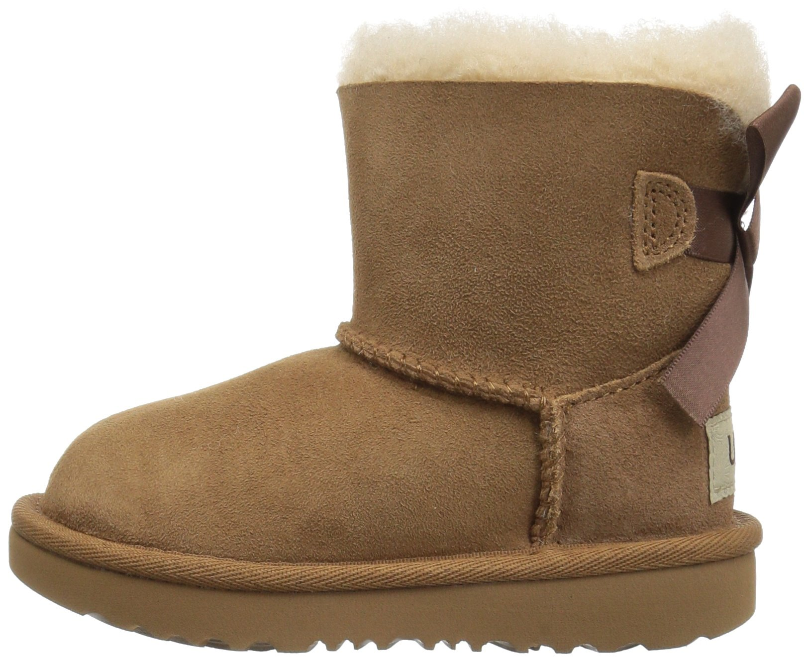 UGG Girls T Mini Bailey Bow II Pull-on Boot, Chestnut, 12 M US Little Kid by UGG (Image #5)