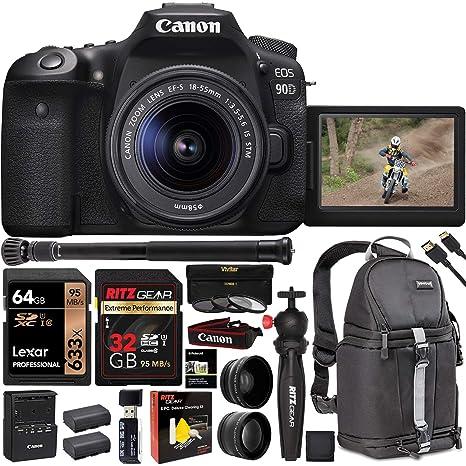 Amazon.com: Canon EOS 90D Cámara réflex digital con lente de ...