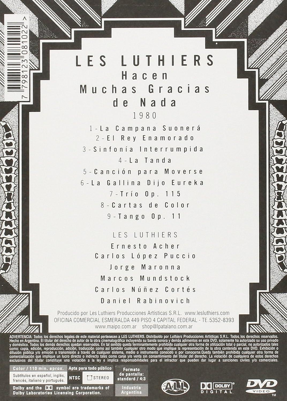 Amazon com: Les Luthiers: Hacen Muchas Gracias de Nada: Les