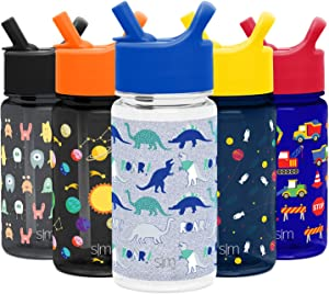 Simple Modern Summit Kids Tritan Water Bottle with Straw Lid Sippy Cup - Dishwasher Safe Tumbler Travel Mug Flask