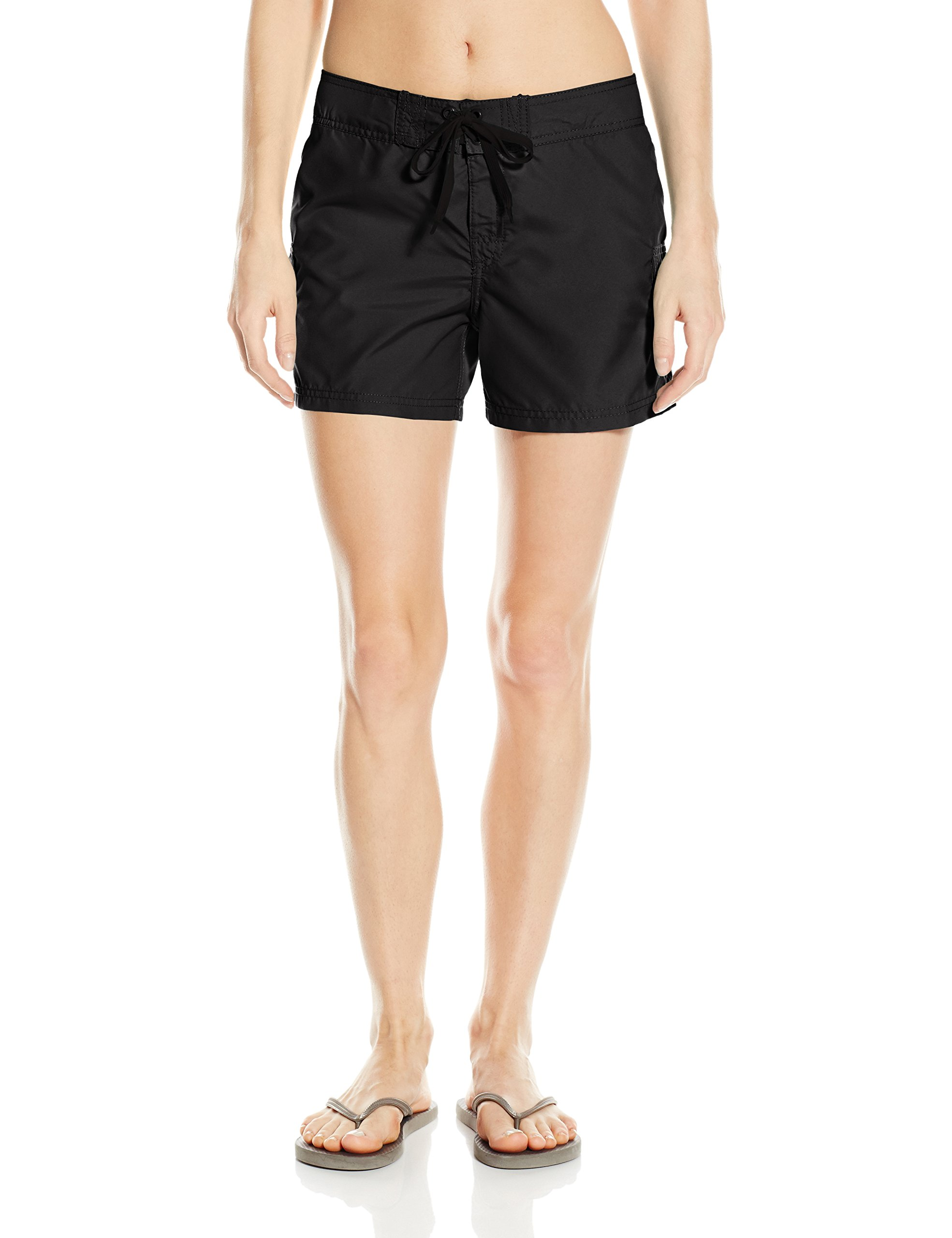 Kanu Surf Women's Breeze Board Shorts, Black, 12