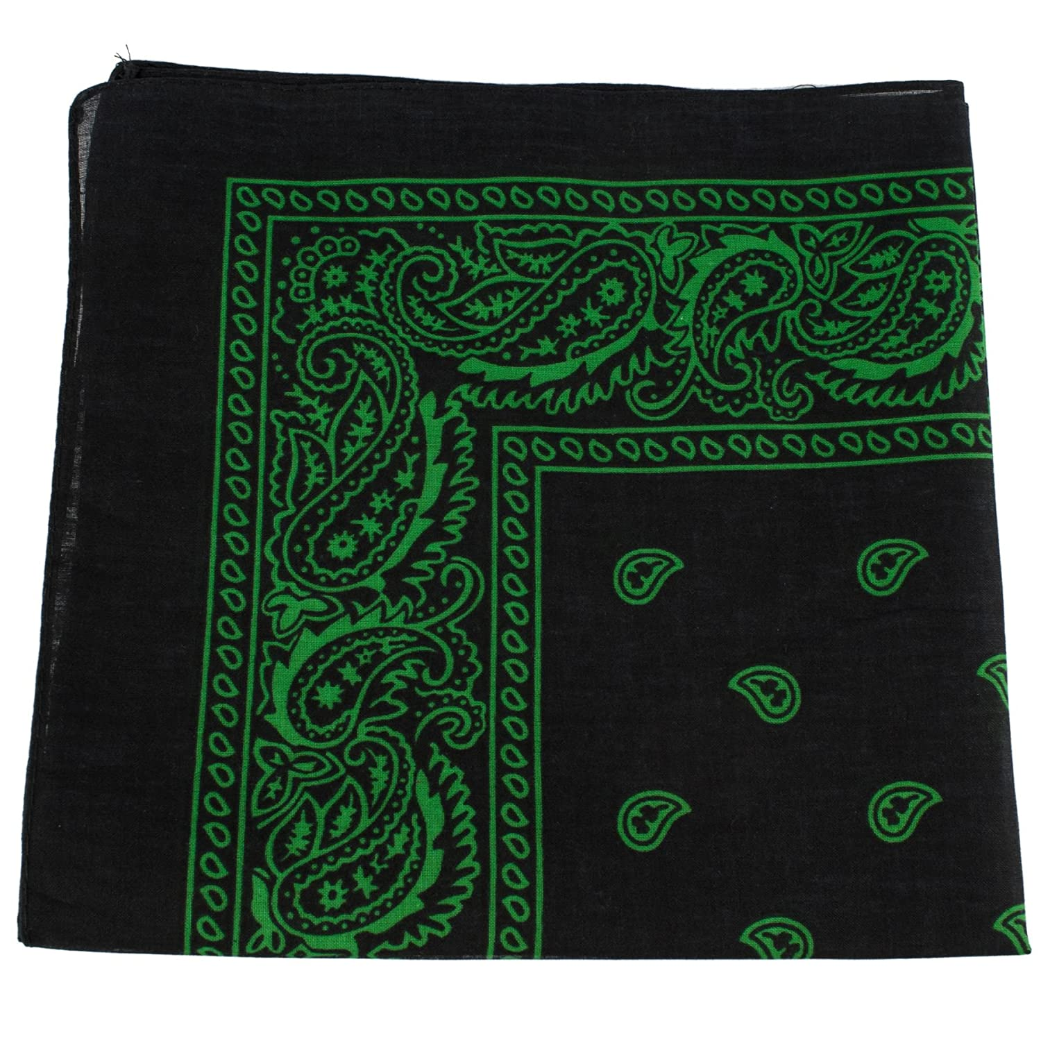 Black Paisley Bandana Hair Tie Neck Wrist Band
