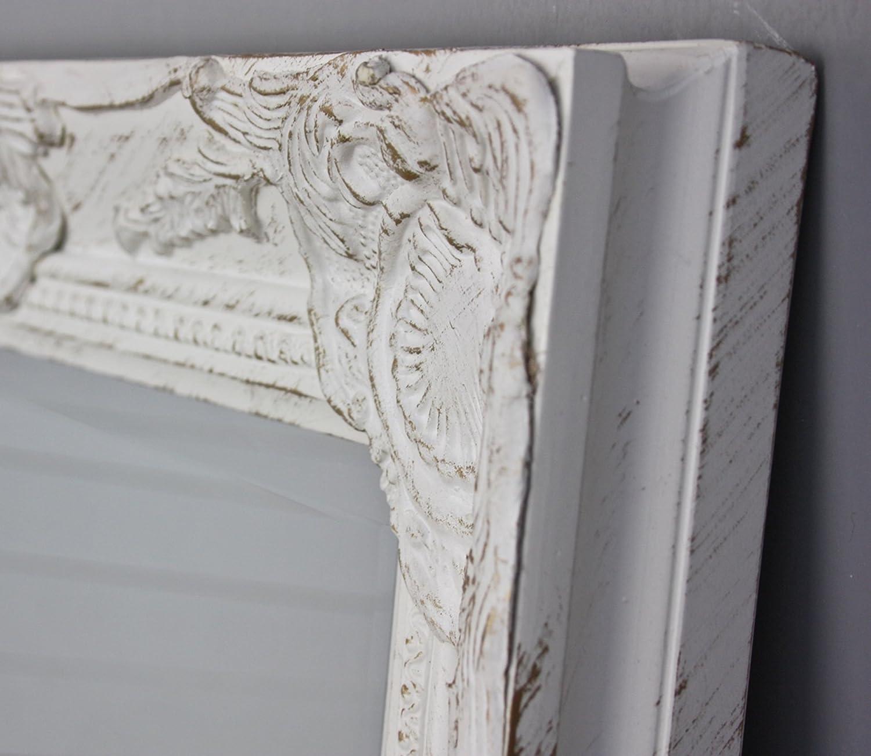 Bianco specchio a parete in legno antico NUOVO barocco specchio ...