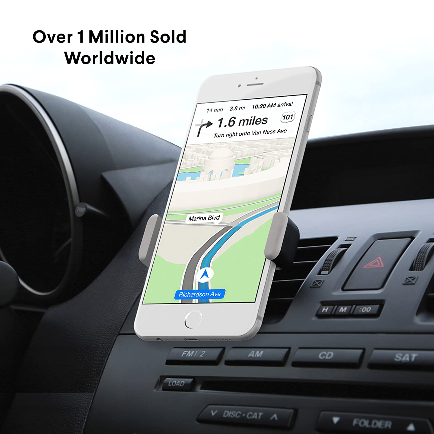 Amazon com kenu airframe car vent mount cell phone holder car mount car accessories for iphone 8 7 6s 6 5s 5 se and small to medium