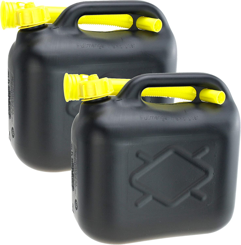 Smartweb 2er Set 20 Liter Kanister Maße 38 X 38 X 16cm Bxhxt Benzinkanister Dieselkanister Mit Trichter Kunststoff Von Lennox Auto