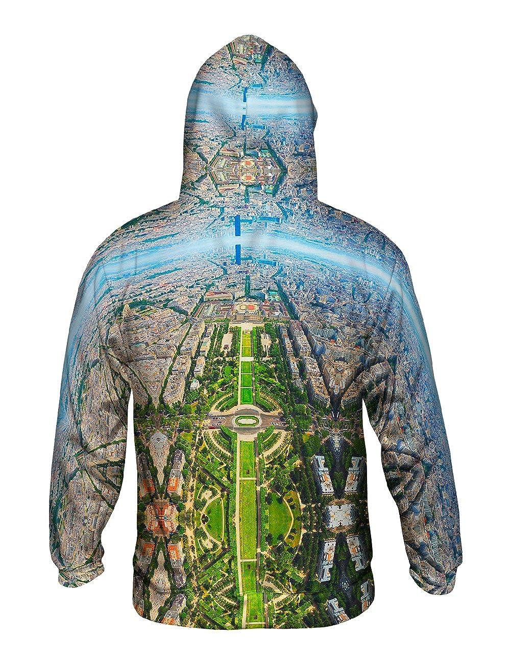 Yizzam Mens Hoodie Sweater Paris France Champ De Mars Allover Print