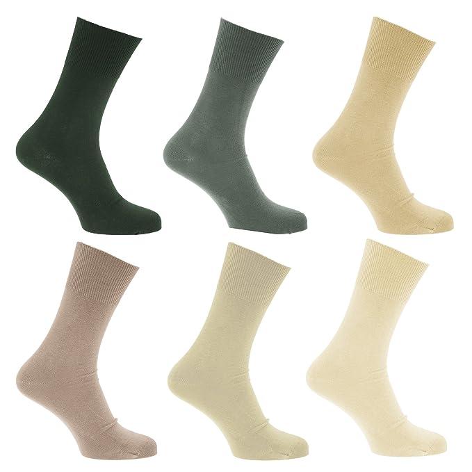 Universal Textiles Calcetines para diabeticos sin elástico pero se mantiene arriba para hombre/caballero -