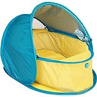 dBb Remond cuna Pop Up anti–UV y colchón–amarillo/azul