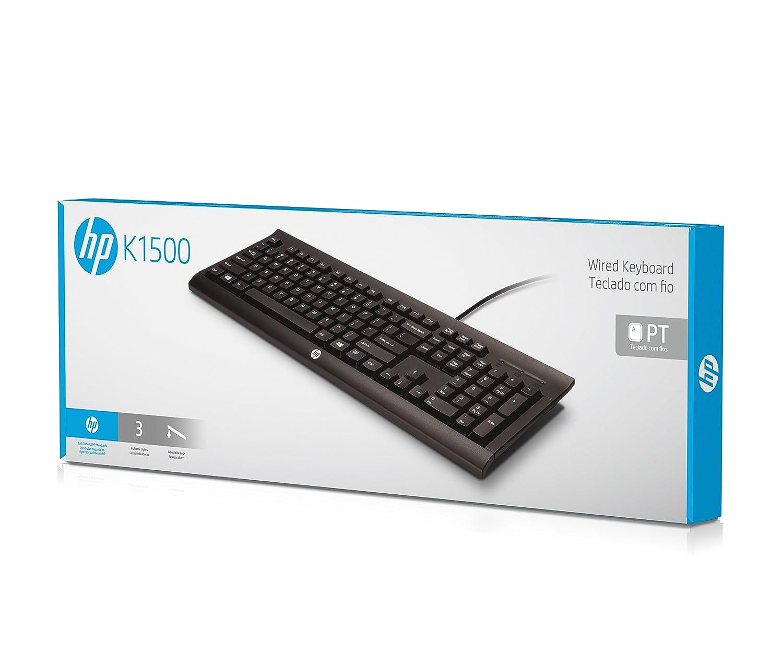 HP K1500 - Teclado alámbrico - QWERTY Español, negro: Amazon.es: Informática
