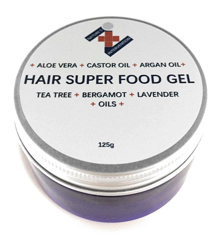 GEL DE ALOE & ALGAS MARINAS Con ACEITE DE RICINO Y ARGÀN - - de NATURE'S INTERVENTION - 100% puro, vegano, sin productos químicos, orgánico, de la más alta calidad. Naturalmente refresca, hidrata y suaviza la piel seca. Repara y embellece el cabello, d