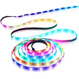 Aclorol WS2812B LED Strip Light 30 Pixels /M Individually Addressable Programmable Dream Color 16.4ft 150 5050 RGB SMD…
