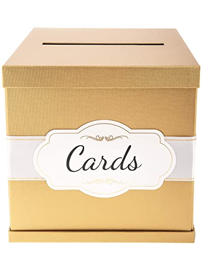 Amazon Com Merry Expressions Gold Gift Card Box With White Gold