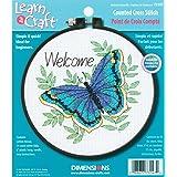 Dimensions Kit Point De Croix Compté, Bienvenue Papillon