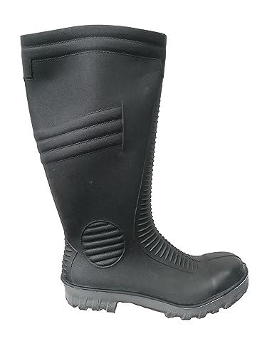 91e4ff2f140 Mens Black Safety Steel Toe Cap Wellington Wellies Work Boot Waterproof  (UK6
