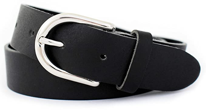 GREEN YARD Damengürtel schmal - Ledergürtel Damen schwarz 3 cm Breit -  Anzuggürtel - Gürtel aus 2dc9d50a87
