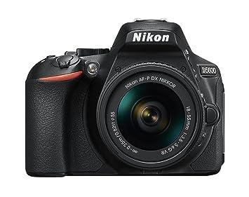 0b1dc61eed27 Nikon D5600 - Kit de cámara réflex de 24.2 MP con objetivo AF-P DX 18 - 55  mm VR, pantalla táctil de 3