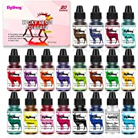 Epoxy Hars Pigment - 20 Kleur Vloeibare Doorschijnende Epoxy Hars Kleurstof, Zeer Geconcentreerde Epoxy Hars Kleurstof…