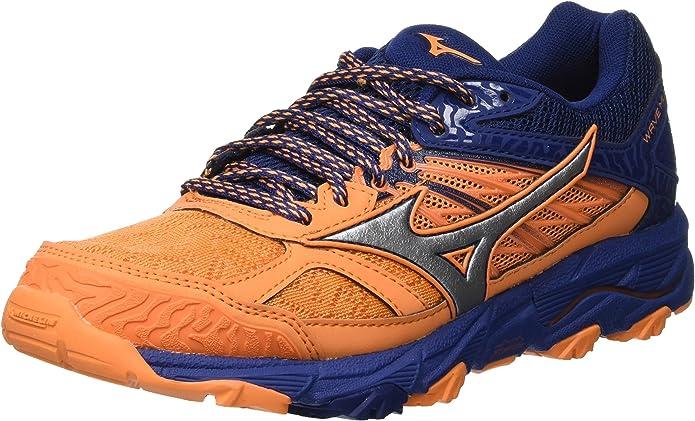 Mizuno Wave Mujin 5, Zapatillas de Running para Mujer, Naranja (Birdofparadise/Silver/Estate Blue 03), 38 EU: Amazon.es: Zapatos y complementos