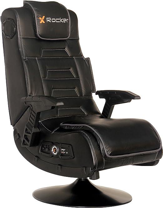 Amazon.com: X Rocker Pro Series 2.1 Vibrating Black Leather