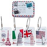 CKLT 4PCS/Set Metal Suitcase Handle Hidden Individuality Travel Luggage Tags