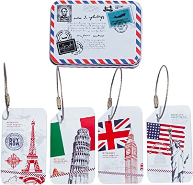 2 Pack Luggage Tags Leaning Tower Of Pisa Baggage Tag For Travel Tags Accessories