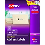 Avery Easy Peel Clear Mailing Labels for Laser Printers, Box of 1500 (5660)