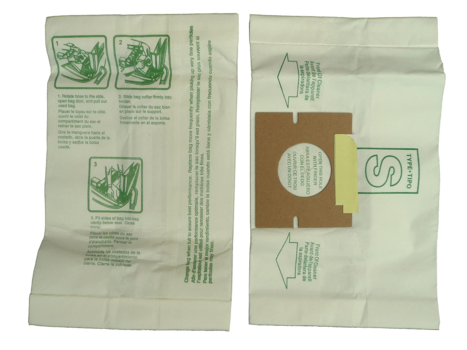 9 Hoover Windtunnel Allergy Vacuum Type S Bags, Futura, Spectrum, Power Max Vacuum Cleaners, 43655097, 4010064S, 4010344S, 43655093, 4010100S