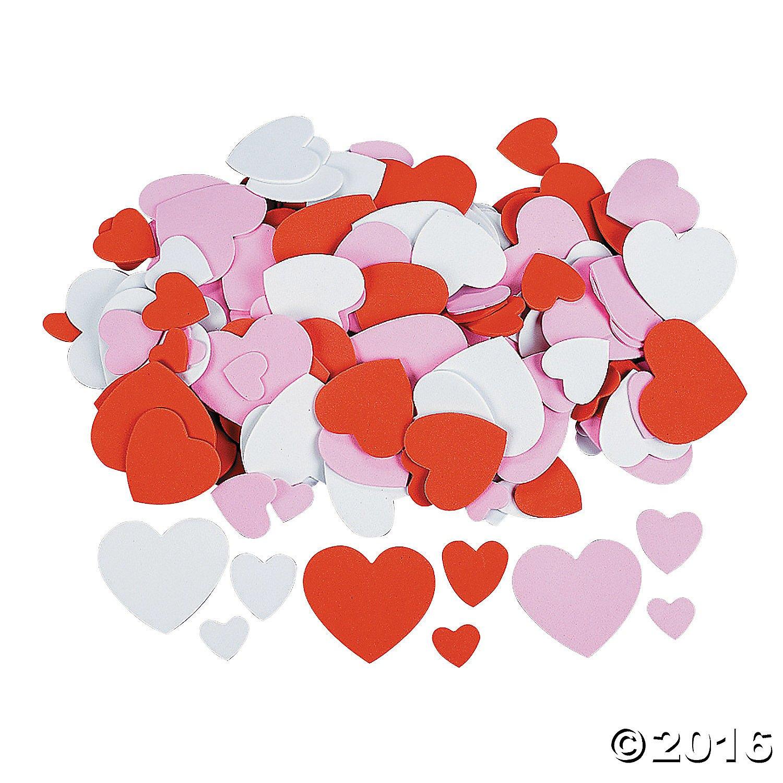 amazon com foam hearts 400 pieces bulk