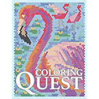 Coloring Quest: Activity Puzzle Color By Number Book for Adults Relaxation and Stress Relief: Volume 7