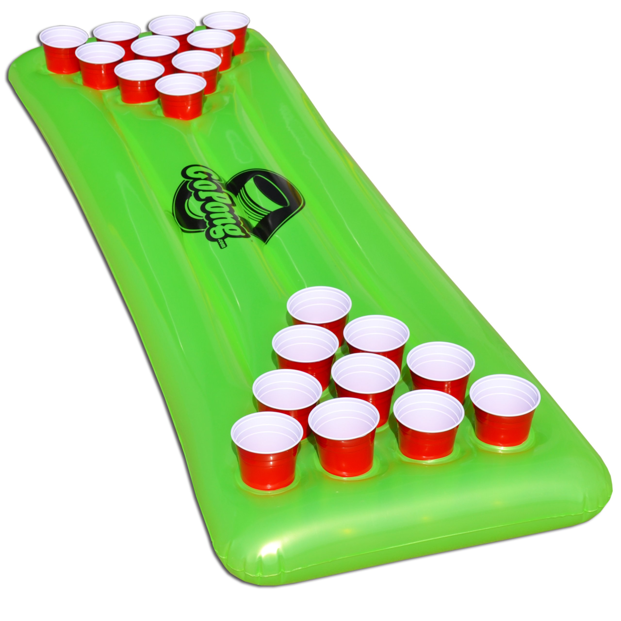 GoPong Pool Pong Table, Inflatable Floating Beer Pong Table, Includes 3 Pong Balls by GoPong