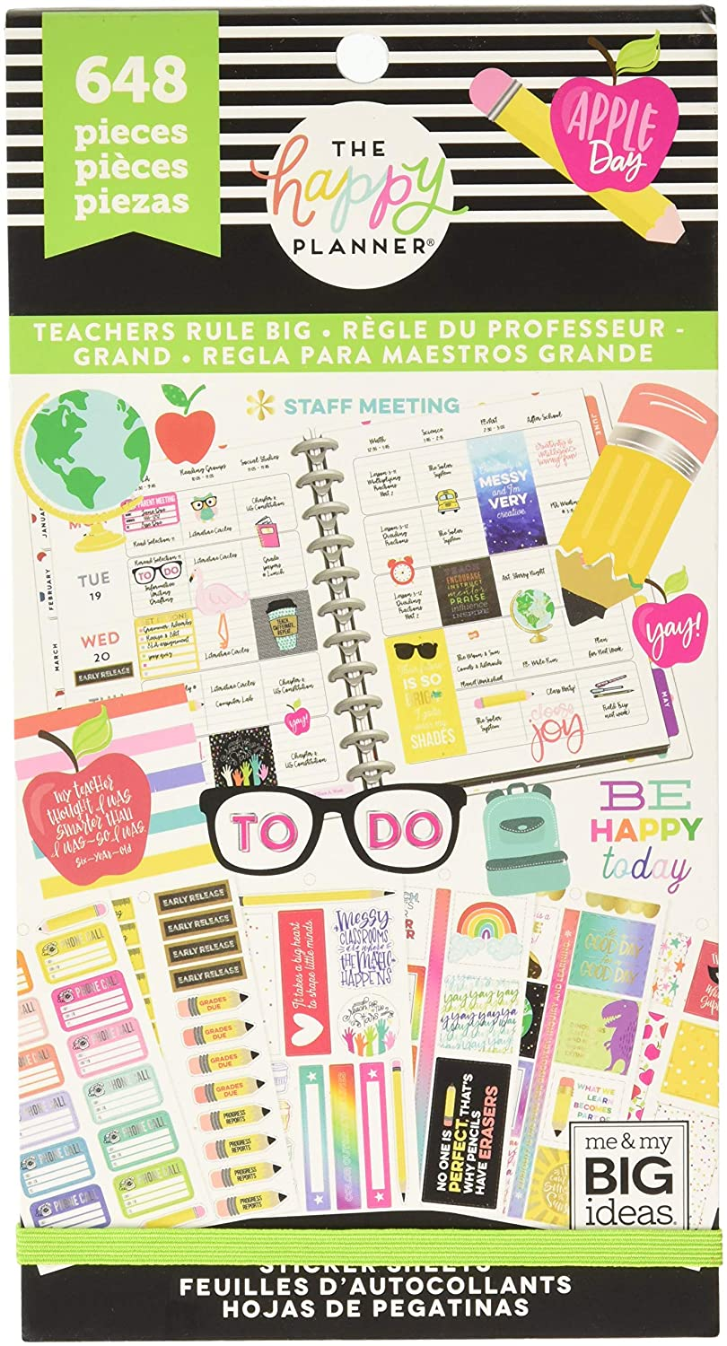 Amazon com me my big ideas ppsv 71 3048 teachers rule big happy planner sticker value 648 per pack multicolor arts crafts sewing