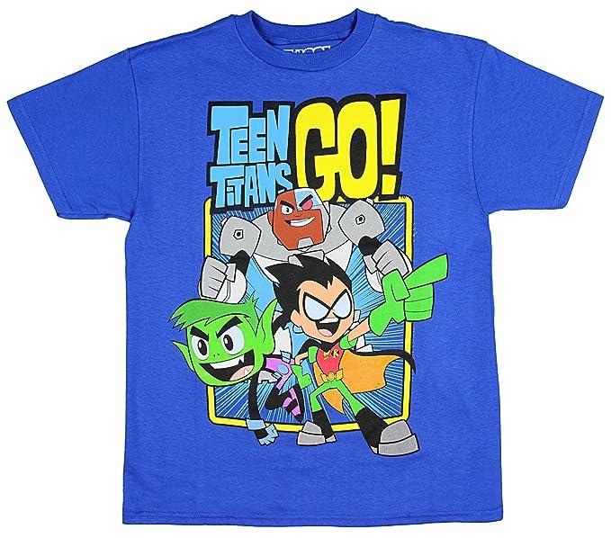 c9ac3ae7 bioworld Teen Titans GO! Boys' Trio T-Shirt Royal Blue: Amazon.ca ...