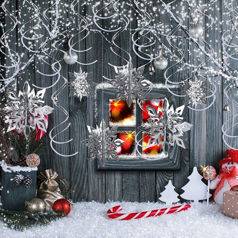 6Pcs//lot Plastic Ball Christmas Tree Ornaments Hanging Pendants New Year Decor
