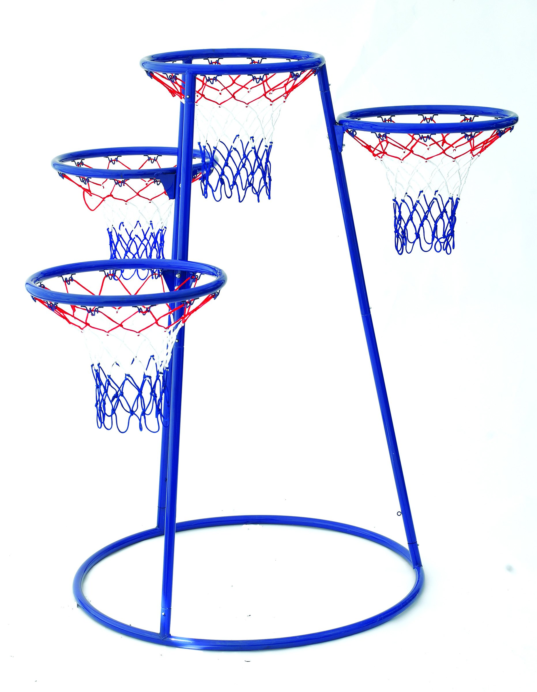Angeles 4 Rings Basketball Stand with Storage Bag for Kids Active Play Toy (48 x 36 x 54 in)