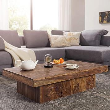 Attrayant FineBuy Design Couchtisch KOTA Sheesham Holz 120 X 70 X 30 Cm Flach |  Moderner Wohnzimmertisch