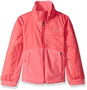 e661ca53 Columbia Big Girls' Benton Springs lll Overlay Fleece, Camellia Rose,  X-Large