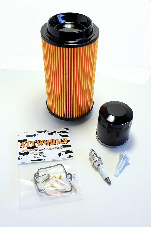 Polaris Sportsman 500 2003 2005 Tune Up Kit W Spark 2004 Fuel Filter Plug Oil Air Carb Rebuild Automotive