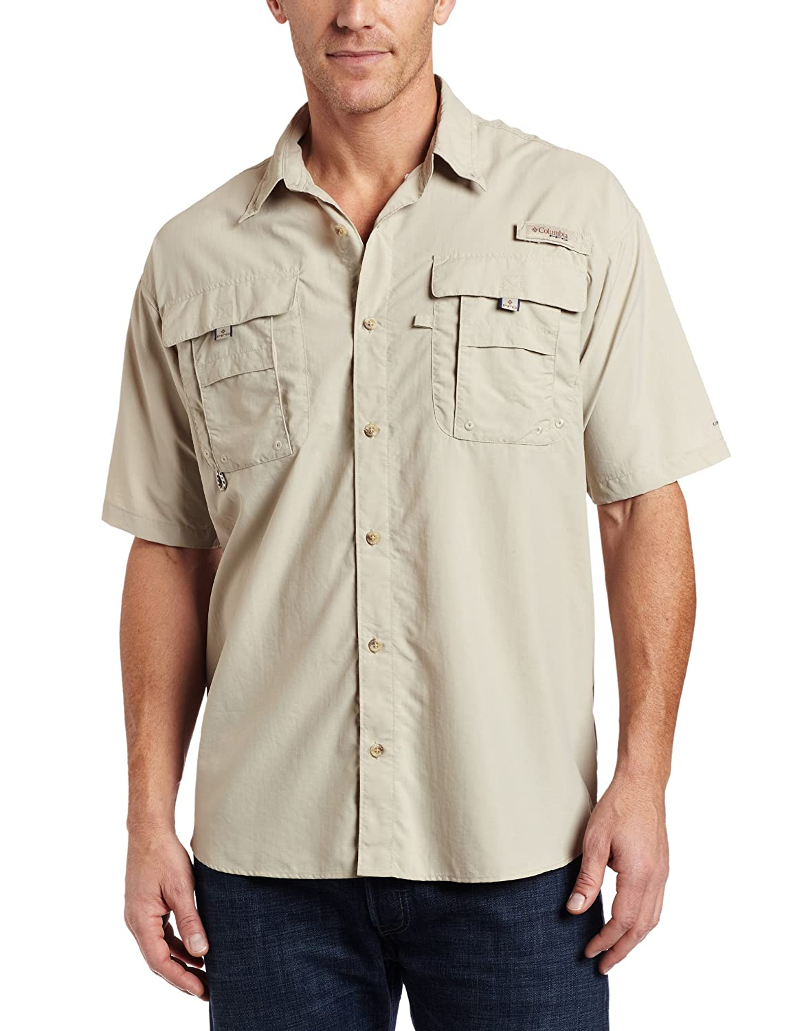durable nylon shirt in fossil color