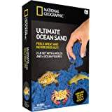 National Geographic Ultimate Ocean Play Sand - 6 Moulds, 6 Figures, 900 Grams of Sand with Tray