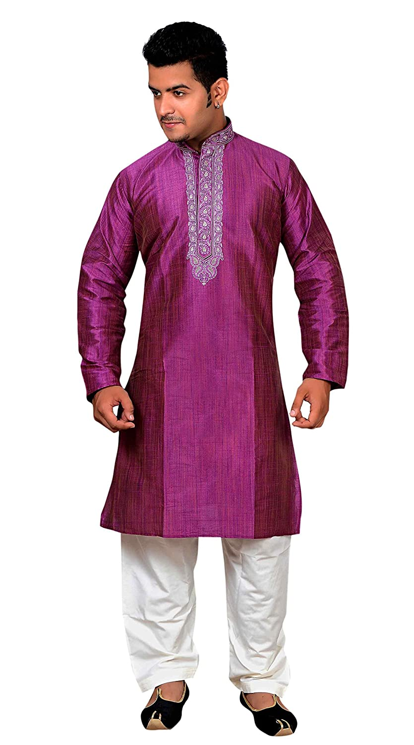 Amazon.com: Mens Indian Red Violet Sherwani Kurta salwar kameez for Bollywood theme party outfit London 748 (36 (S - UK), Red Violet): Clothing