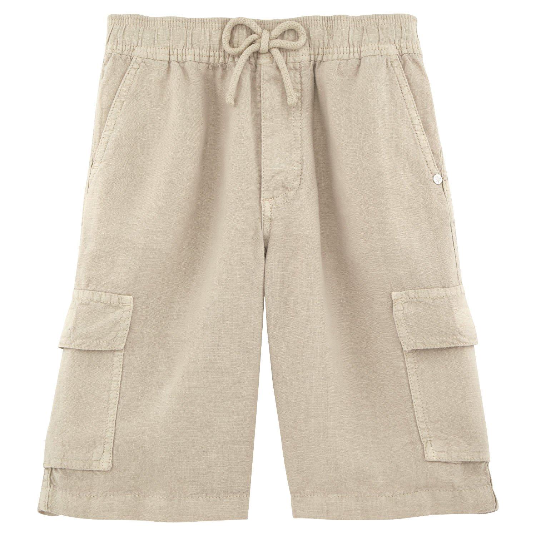 Vilebrequin - Linen bermuda shorts - Boys - 10 years - Jute by Vilebrequin