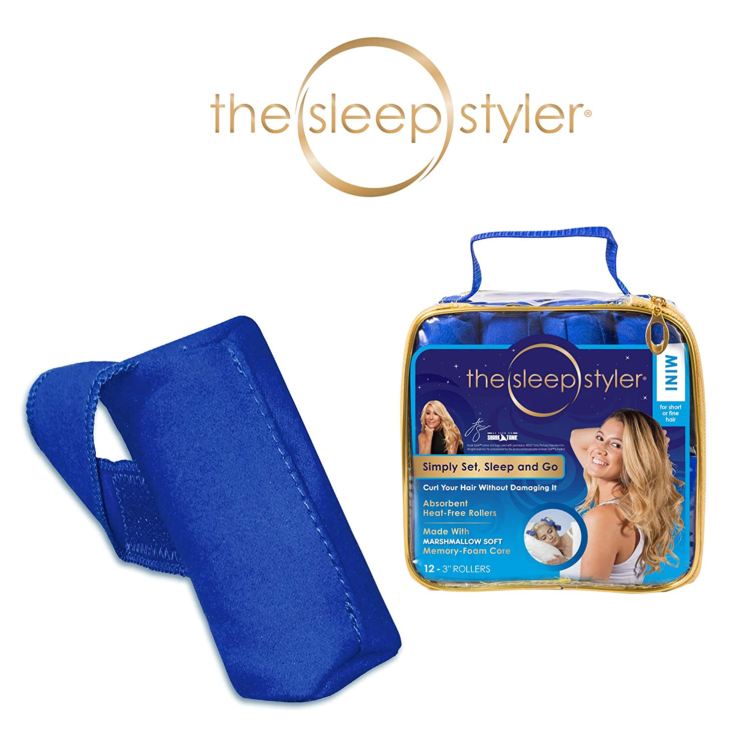 "Allstar Innovations The Sleep Styler, The heat-free Nighttime Hair Curlers for Short or Long Fine Hair, Mini (3"" Rollers), 12 Count, As Seen on Shark Tank"