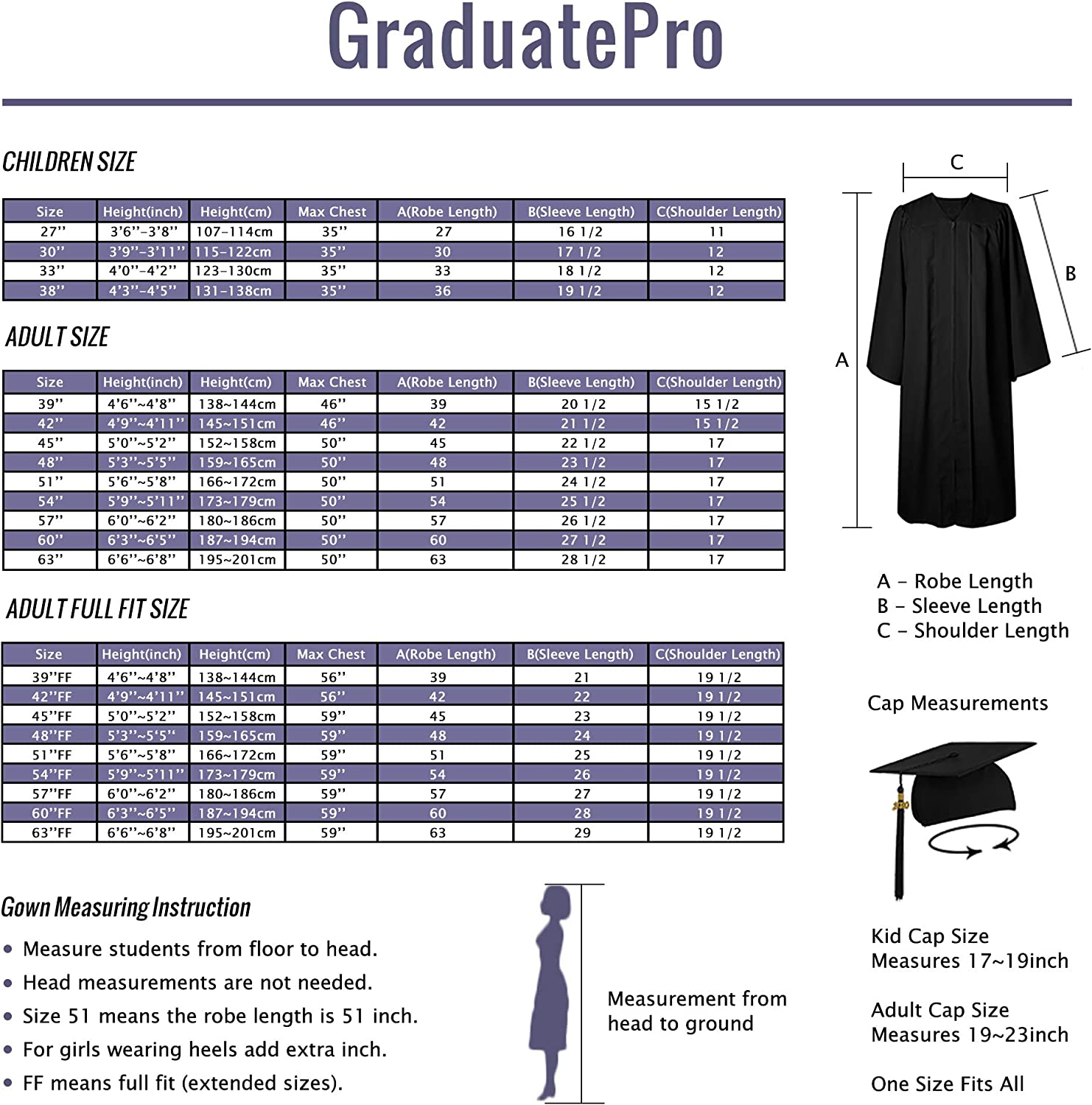 GraduatePro Graduation Gown Choir Robe Unisex Adult High School College Outfit 2020 Costume