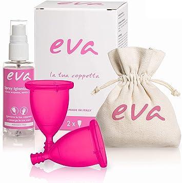 Dulàc - Copa Menstrual Super-Soft - 2 tallas - Eva (Small + Large, Rosa): Amazon.es: Salud y cuidado personal