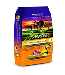 Zignature Kangaroo Dry Dog Food Formula 27 lb. Bag, High Protein Formula. Fast Delivery. by Just Jak's Pet Market