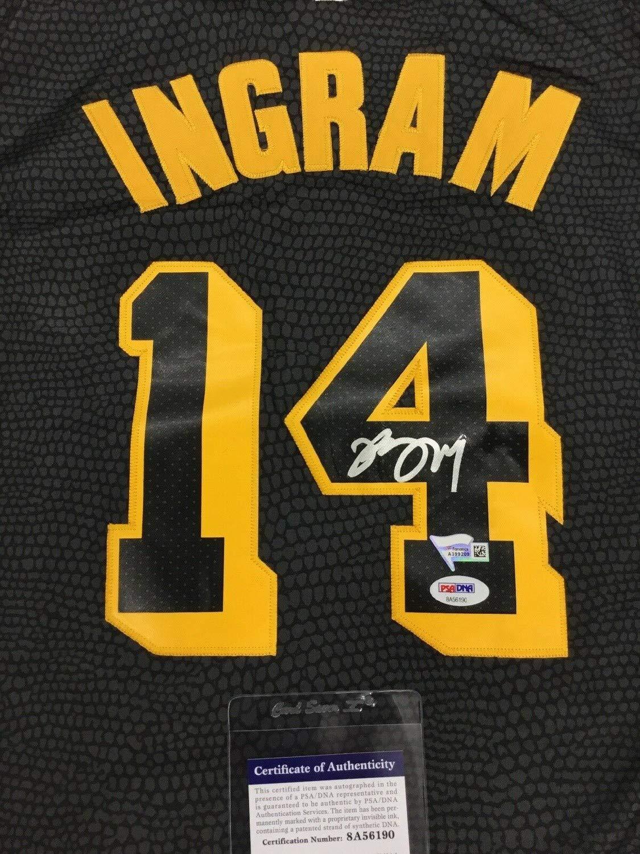 competitive price 61975 5448d Brandon Ingram Lakers Autographed Signed Memorabilia Black ...