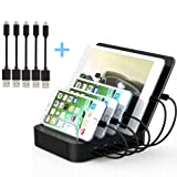 Amazon Price History for:Kisreal USB Charging Station 5-Port Desktop Charging Stand Organizer for iPhone, iPad, Tablets and Other USB-Charged Devices