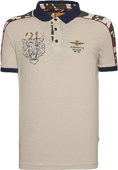 Aeronáutica Militar Polo PO1447J Arena Jersey Hombre Camisa