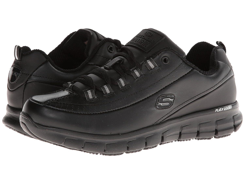 [SKECHERS(スケッチャーズ)] レディースワークシューズナースシューズ靴 Bellshill Steel Toe B07FRXMNPT 5.5 (22.5cm) B Medium|ブラック ブラック 5.5 (22.5cm) B Medium