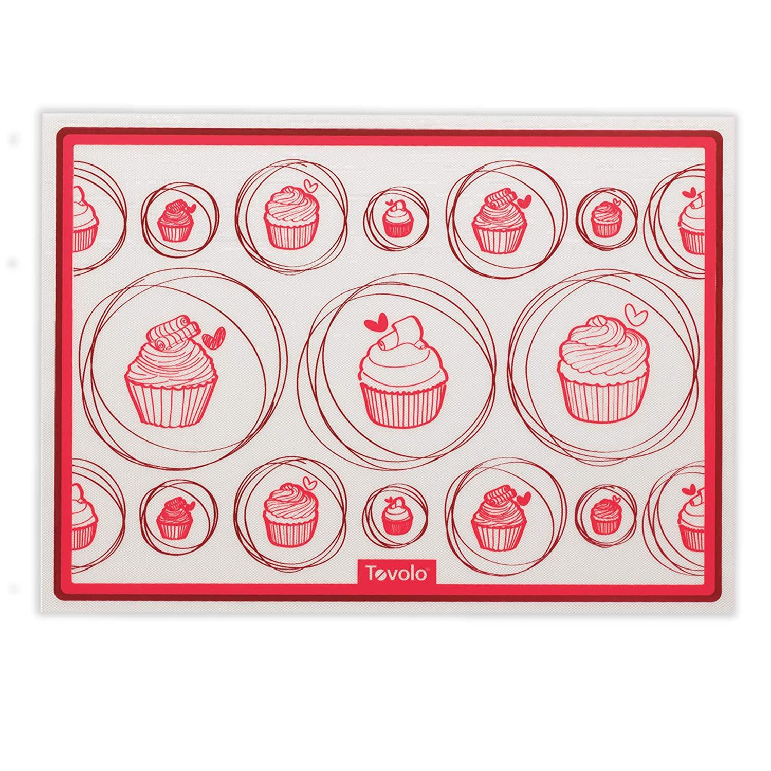 Tovolo Silicone Toaster Oven Baking Mat, Non-Stick, No-Burn Baking, Heat-Resistant to 600ᴼF